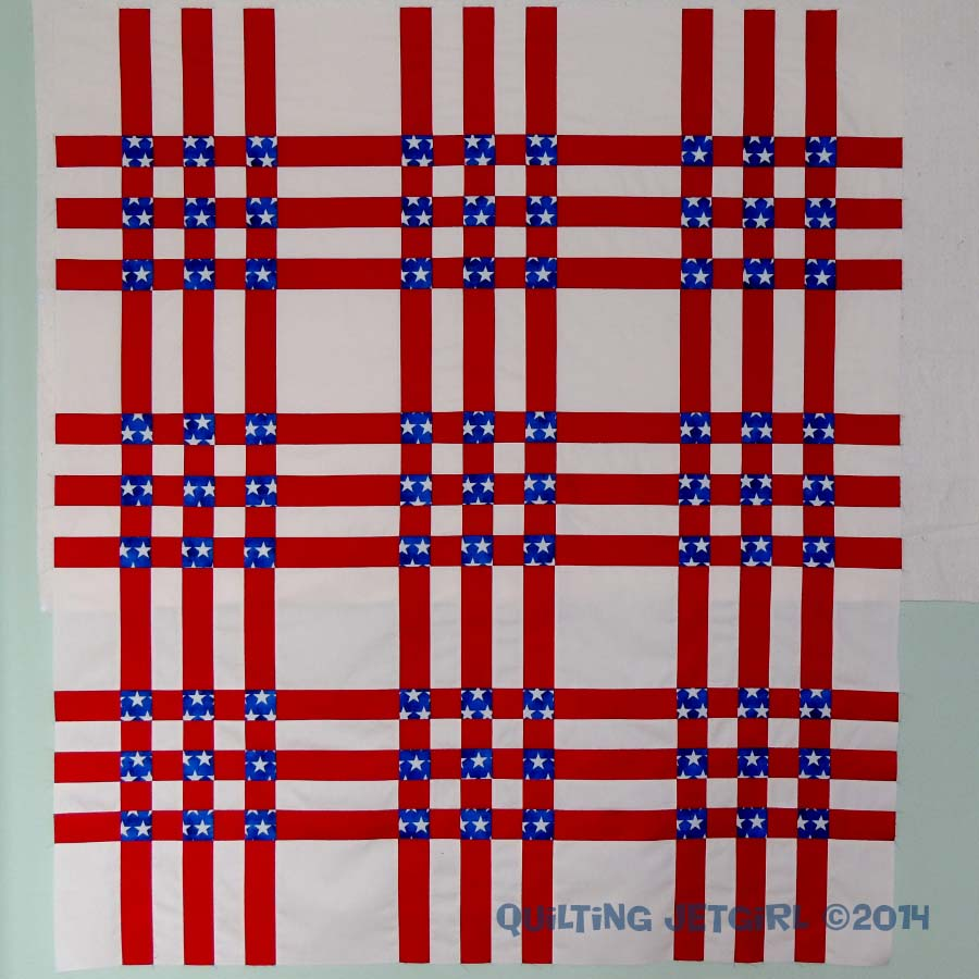 4th of July Picnic Quilt - Pieced Top