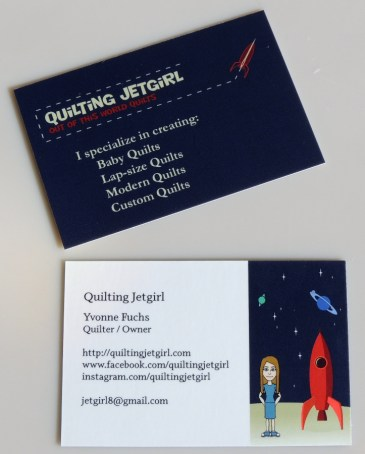 Quilting Jetgirl Business Card