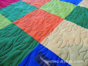 Dragon Quilt - Quilting Detail