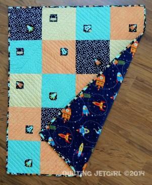 Spaceship Tic-Tac - Peek of Backing Fabric