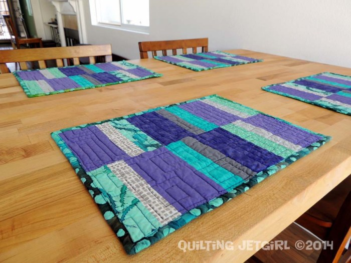 Purple, Gray, Teal Placemats