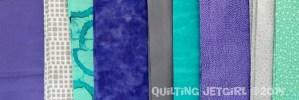 Purple, Gray, Teal Fabric Pull