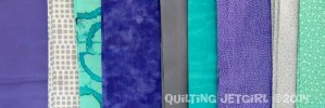 Purple, Gray, Teal Fabric Pull