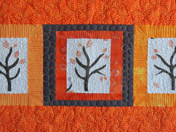 Namibia Trees - Quilting Detail