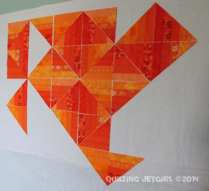 Orange Crush - Each Fabric Used Twice