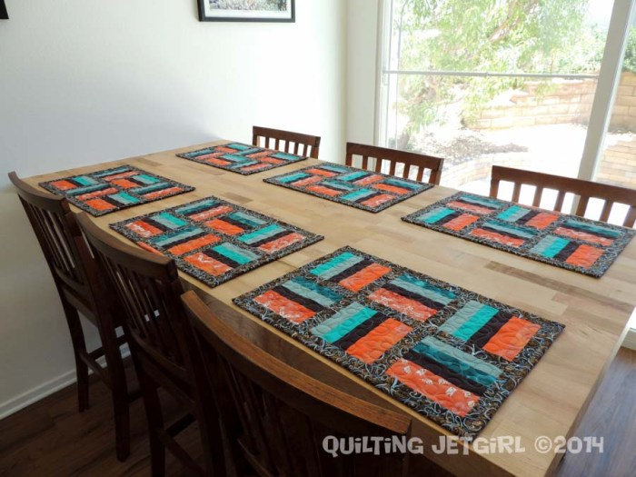 Orange Jade Placemat Set