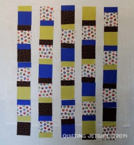Owl City Baby Quilt - Layout on Design Wall
