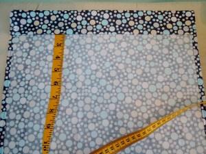 "Simple Drawstring Bag - Fold Short Edge Down 2"" and Press"