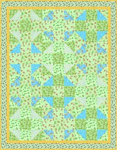 Flannel Baby Quilt Top Design