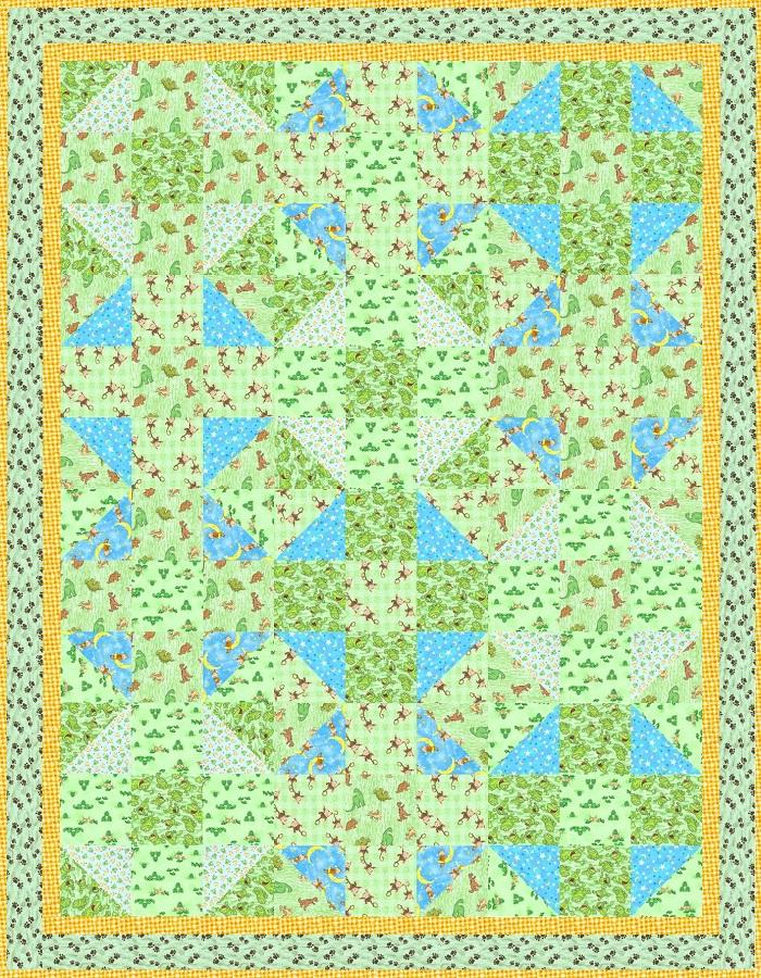 Flannel Baby Quilt Top Design