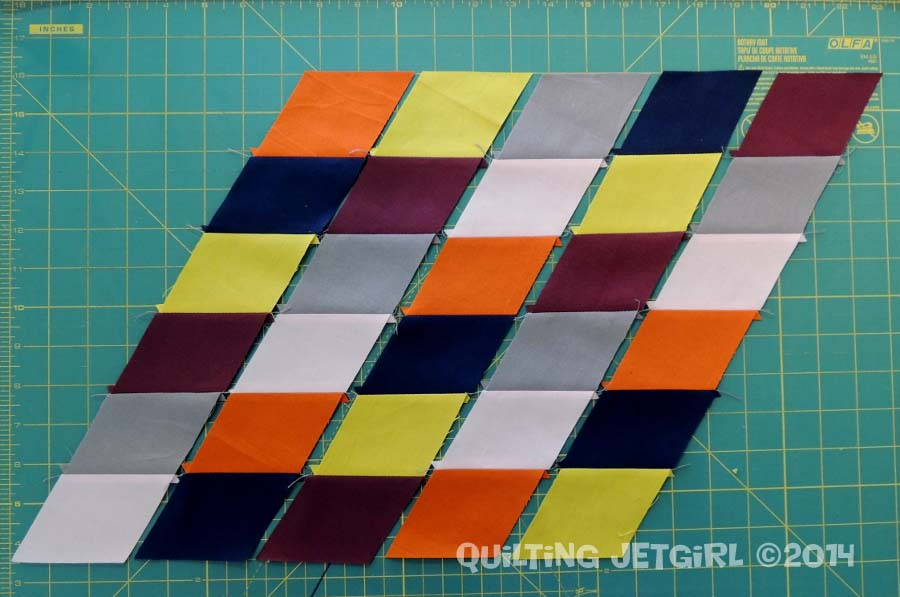 Parallelogram Placemats: Parallelogram Strips