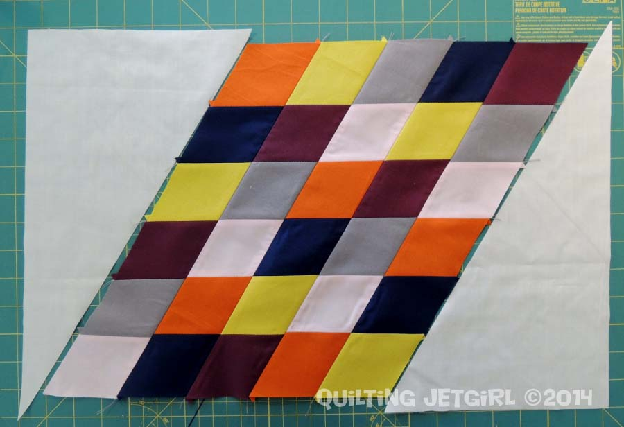 Parallelogram Placemats: Final Piecing Layout