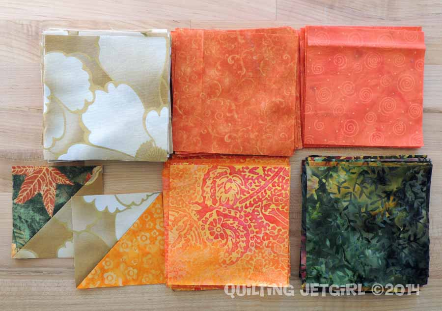 6 Fall Color Inspired Quilted Placemats - Fabric