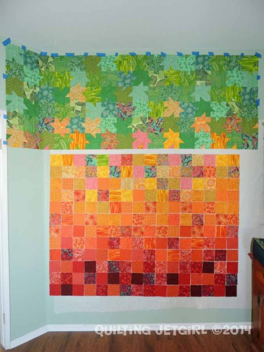 Tessellated Leaves - One Third Pieced