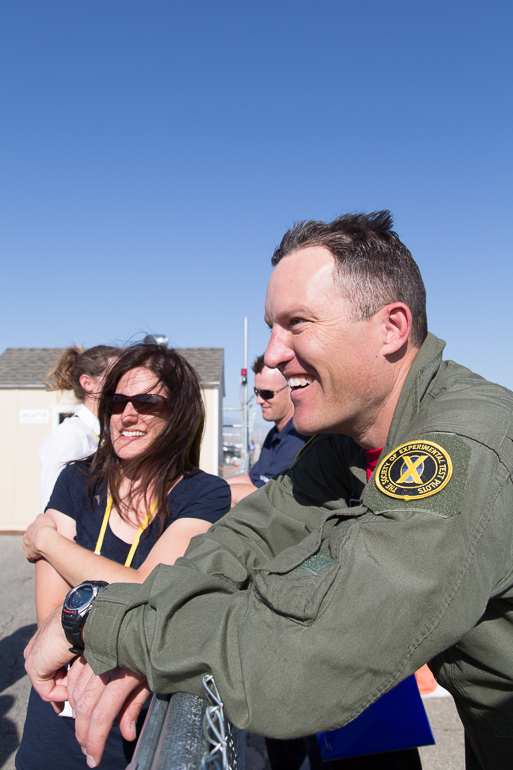 SpaceShipTwo's First Powered Flight - Michelle and Mike Alsbury