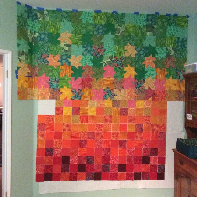 Tessellated Leaves - 4 of 9 Rows Pieced