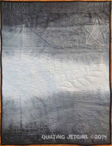 Whole Cloth Grayscale Test Quilt - Front