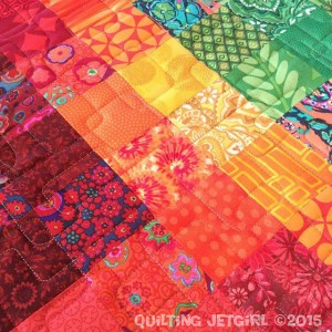 Groovy Scrap Quilt - Quilting Detail