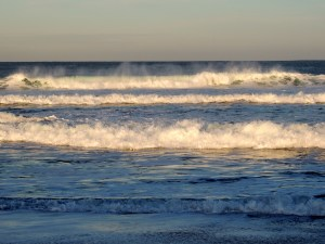 Waves at sunrise 12/28/2014