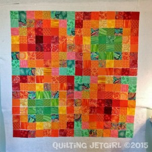 Groovy Scrap Quilt - 40-inch square layout