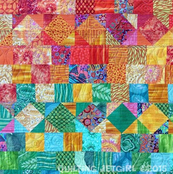Scrap Quilt - Quilting Detail
