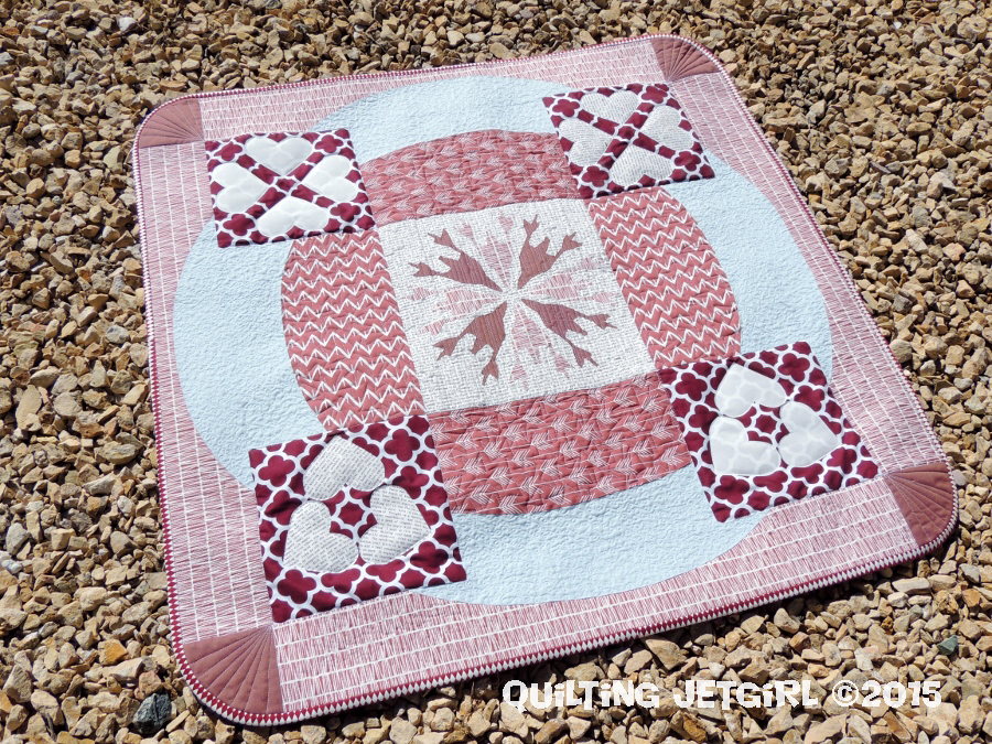 "2015 Pantone Quilt Challenge (Marsala): ""Love and Loss"""