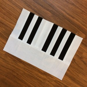 Piano Keyboard Quilt Block