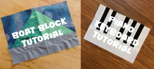 Boat and Piano Keyboard Block Tutorials