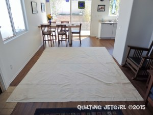 Cocoa Leaf Medallion Quilt - Backing Size Check