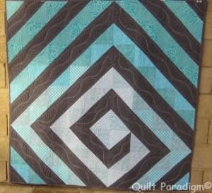 Twirling Aqua by Judy @Quilt Paradigm