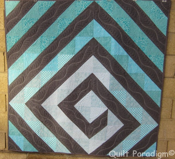 Twirling Aqua by Judy @Quilt Paradigm