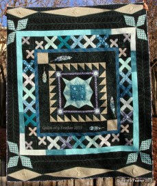 """Sisterhood of the Traveling Quilts finished quilt--titled """"Quilts of a Feather"""""""