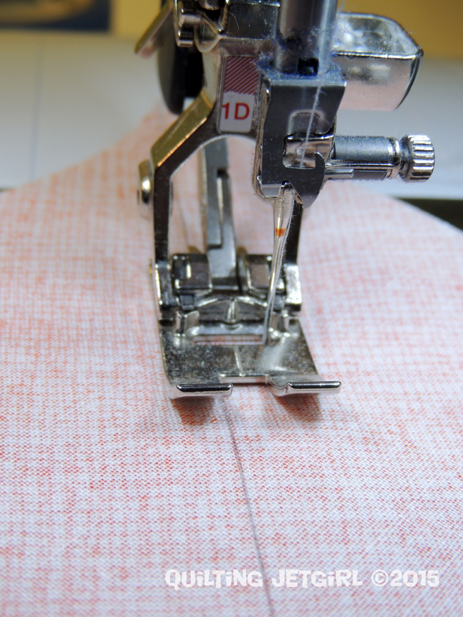 Seam Allowance Tip - Note I Sew on a Bernina and Used Foot 1D