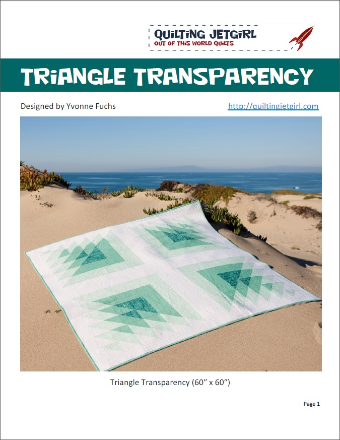 Triangle Transparency Quilt Pattern Cover