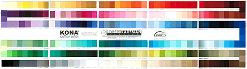 Robert Kaufman Kona Color Card