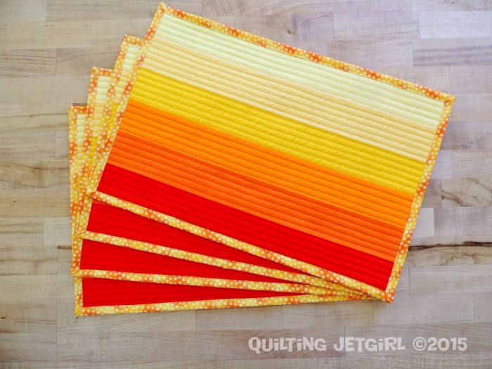 California Sunset Fade Placemats