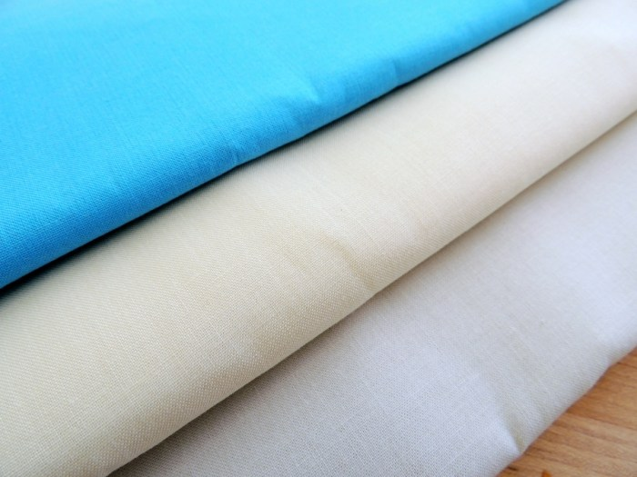 Kona Solids: Niagra, Eggshell, Ivory