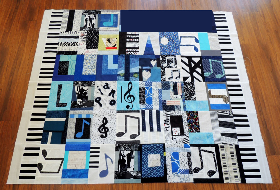 Mr L Pieced Quilt Top