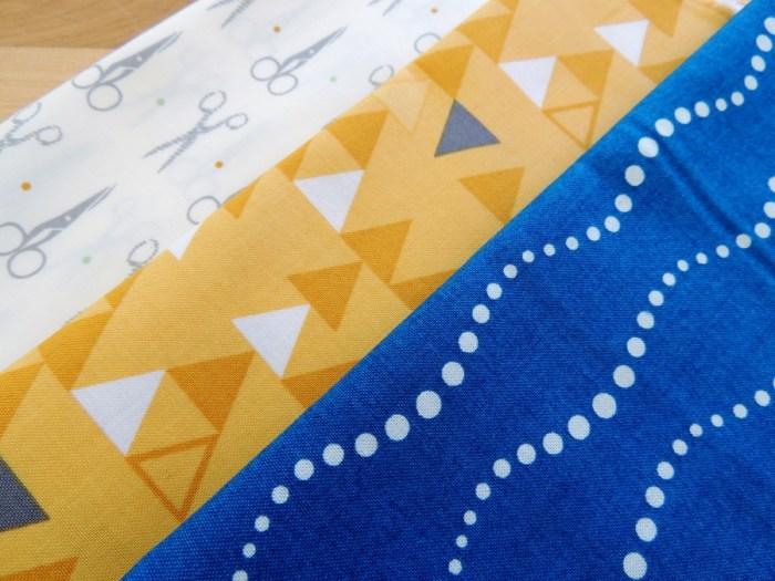 Prints - Make the Cut Sharp, Color Theory Triangles in Mustard, Sun Print Bike Path