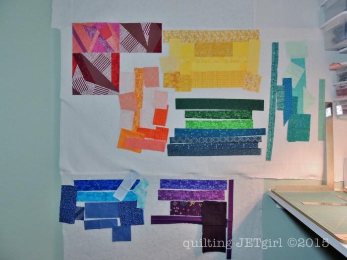 Rainbow Scrap Quilt