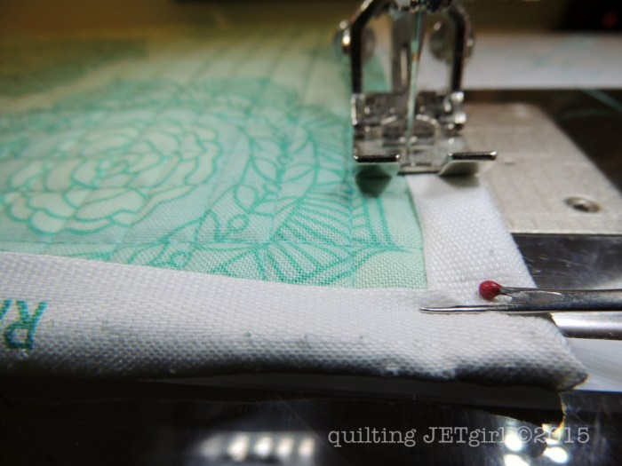 Selvage Binding Tutorial - Sewing to Front