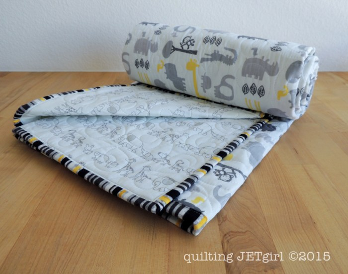 Crib Sheet Baby Quilt IV