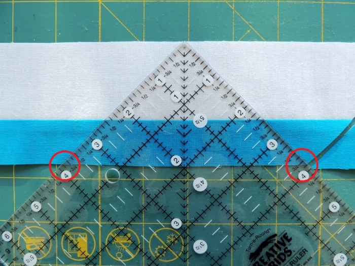 Piecing Step 2 - Repeat Ruler Alignment