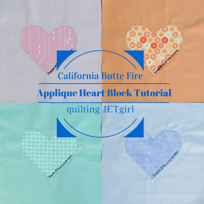 Applique Heart Block Tutorial
