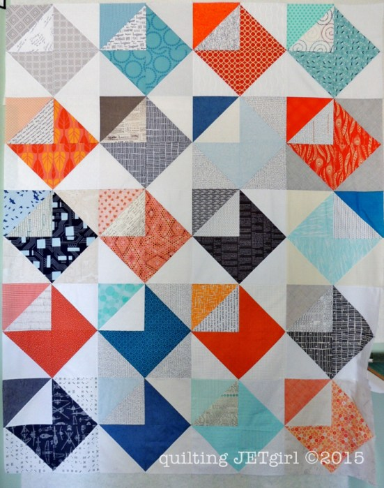 Love Letters Quilt Finished Flimsy