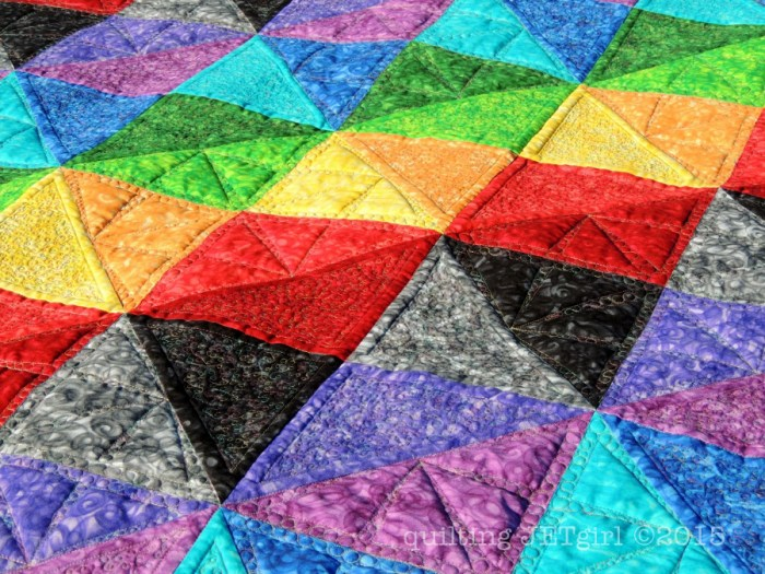 Prismatic Rainbow - Quilting Detail