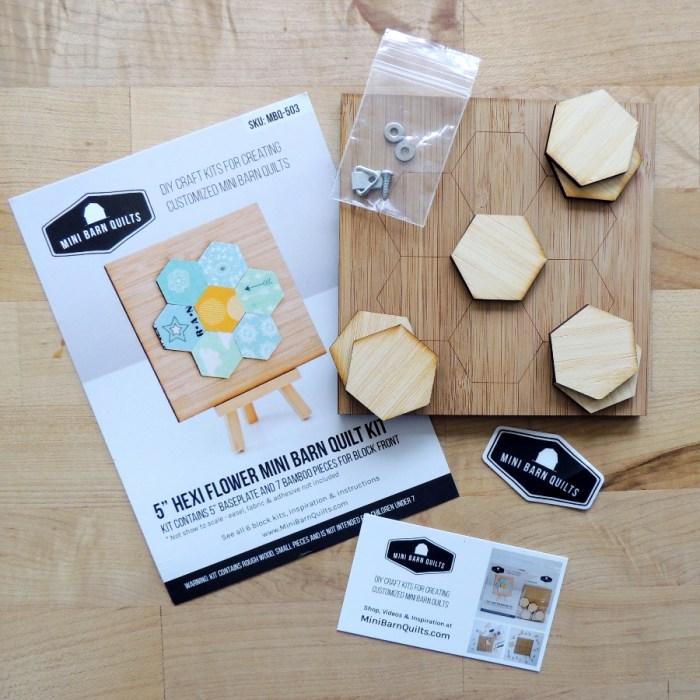 Hexi Flower Mini Barn Quilt Kit