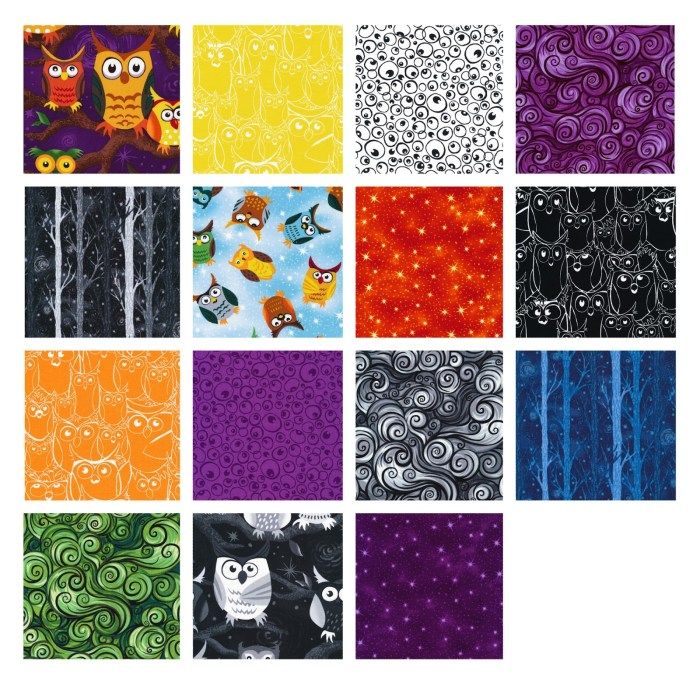Nite Owl Fabric Swatches