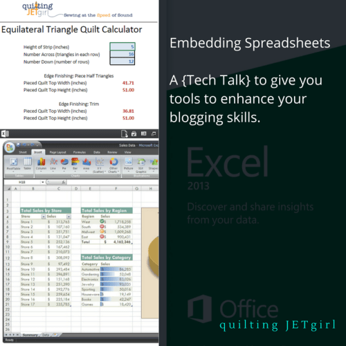 Embedding Spreadsheets