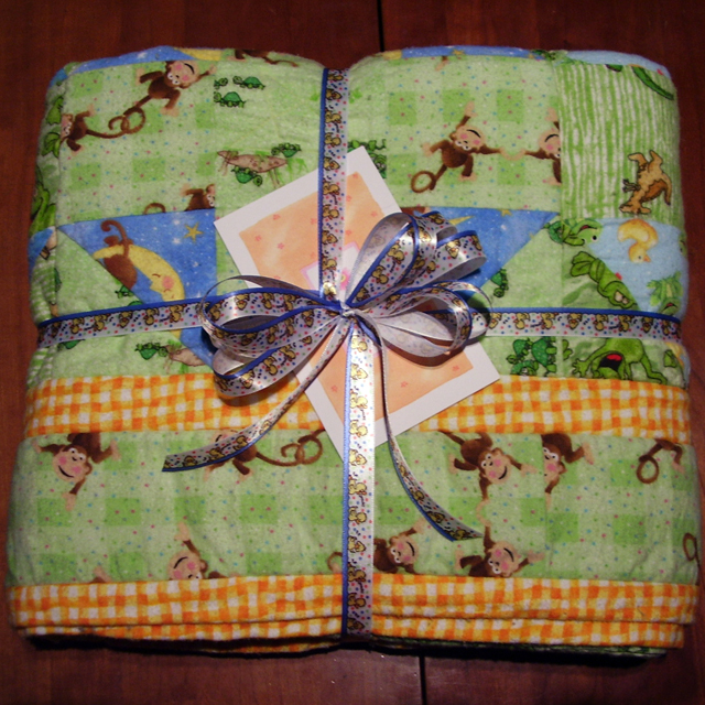 Flannel Baby Quilt - Ready to Gift